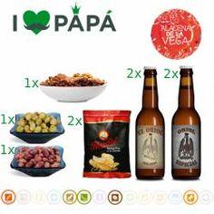 Pack Cervezas Artesanas + Picoteo Lote de productos de nuestra tienda, con los que podrás pasar un rato agradable en la mejor compañía. www.alacenadelavega.com #cervezaartesana #beer #aperitivo