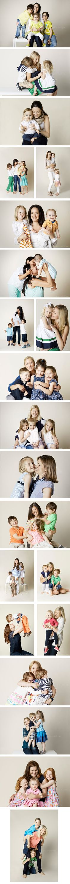 mothers day photographs, studio photography of mothers and children, @ alix martinez photography