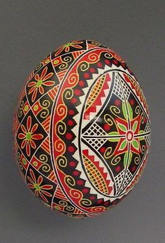 Details about Pysanka, Real Ukrainian Easter Egg Hen Chicken Shell,Geometric Design,Flower - - Ukrainian Easter Eggs, Ukrainian Art, Tsar Nicolas, Easter Egg Pattern, Carved Eggs, Easter Egg Designs, Hen Chicken, Easter Egg Crafts, Faberge Eggs