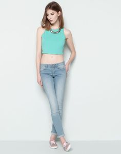 bfe09341ada90  BASIC SKINNY JEANS Color Jeans