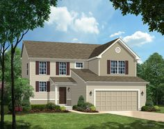 TBB Hemingway 314033328 - NEW CONSTRUCTION by Payne Family Homes in Konert Lake Estates in Fenton! The Hemingway is a 4 bedroom (plus a loft), 2.5 bath, 2 story with 2,189 square feet of living space, including a Flex/Den/Playroom off of the Kitchen.