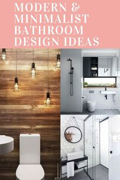 Upgrade Your House With Modern & Minimalist Bathroom Design Ideas That Will Impress Your Guest - SnapShot Magazine Minimalist Bathroom Design, Bathroom Design Small, Minimalist Decor, Modern Minimalist, Kitchen Bar Lights, Diy Kitchen Lighting, Kitchen Ceiling Lights, Bathroom Vinyl, Diy Bathroom Decor