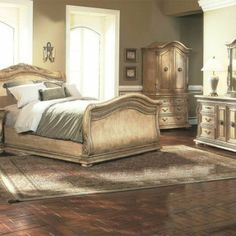 Florence Whitewash King Bedroom Set