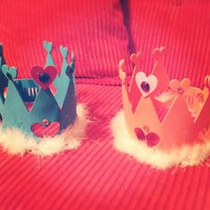 prom king and queen crowns and voting sheets for a Totally Awesome 80's Prom Birthday Party