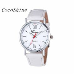 >> Click to Buy << CocoShine A-923  Men Women Fashion Leather Analog Stainless Steel Quartz Wrist Watch wholesale Free shipping #Affiliate
