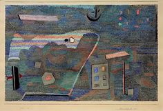 "Klee, Paul 1879–1940.  ""Landscape UOL"",  1932.15 (15) Watercolour on paper on cardboard, 30.8 × 48.6cm."