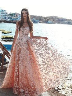 Lace Prom Dresses 2019 Fashion A-Line/Princess Beaded Tulle Formal Evening Gowns Floral Prom Dresses, Tulle Prom Dress, Lace Evening Dresses, Prom Party Dresses, Cheap Prom Dresses, Pretty Dresses, Homecoming Dresses, Evening Gowns, Beautiful Dresses