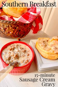 You'll love this quick and easy 15-minute Sausage Cream Gravy recipe! Perfect for your Southern biscuits! Southern Breakfast, Breakfast Menu, Easy Recipes For Beginners, Cooking For Beginners, Cream Gravy, Southern Biscuits, Southern Recipes, Sausage, Easy Meals