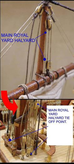 Main Royal Yard Halyards 01