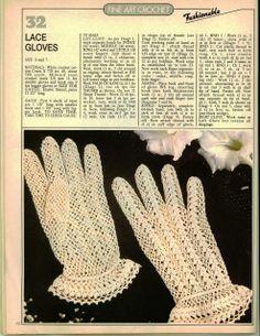 PRECIOUS FINDINGS: Lace gloves,  ♥LCPF♥ with diagram, great diagram -----  Ivelise Feito à Mão: Luvas Em Crochê