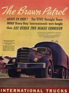 1940 International Truck print ad Heavy Duty Brawn by Vividiom, $8.00