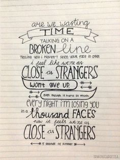 close as strangers - 5sos | Tumblr