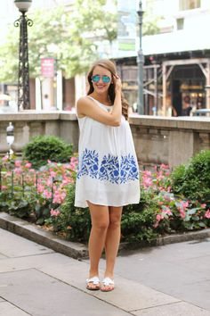 4758bb4715a90 Short and Sweet. White Embroidered DressShort ...