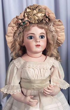 Beautiful and Large French Bisque Bebe Bru Jne with Wonderful Presence. http://Theriaults.com