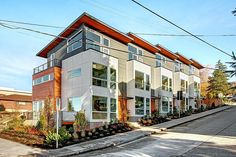 Modern Exterior of Home - West Seattle, WA   5 Star Built Green. Townhouse Details: 3 Beds | 2.25 Baths | Approx 1,621-1,720 Sq Ft |  Seattle, West Seattle, Modern Design, Eco Friendly, Architecture, Interior design , Isola Homes, Isola , PNW    www.IsolaHomes.com