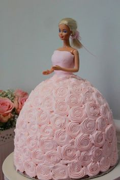 """Barbie Cake Created by Kathy Peña Photography: Preview """"Barbie Party Theme Elizabeth's 4th Birthday"""""""