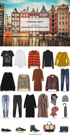 What to Pack for Amsterdam Netherlands – Packing Light If you are wondering what to pack for a 14 day vacation to Amsterdam, Netherlands, you can see some ideas here. What to Pack for Amsterdam Packing Light List Amsterdam Outfit, Amsterdam Travel, Amsterdam Fashion, Visit Amsterdam, Hotel Amsterdam, Capsule Wardrobe 2018, Travel Wardrobe, Packing For Europe, Fall Packing