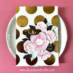 watercolor card with altenew flowers