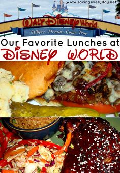 One of my favorite things about the restaurants at Walt Disney World is that many of them have different lunch and dinner menus. This doubles my trying options, which I am always game for, ha! Here are a few of my family's favorite lunchtime meals!