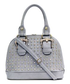 Another great find on #zulily! Gray Maribel Satchel by d'Orcia #zulilyfinds