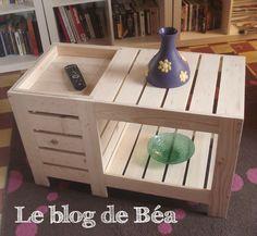 DIY : Table basse en bois de palette avec coffre de rangement