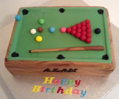 Snooker Cake by Lesley at The Cake Room Ltd