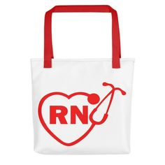 Rn Stethoscope Polyester Tote bag, Nurse Tote Bag, Nurse Tote, Nurse Bag, Rn Tote, Rn Bag, Rn Gift, Nurse Gift, Graduation Gift, Tote Bag #Etsy #Etsystore #Favordesignsboutique #totebags #birthday gifts Nursing Student Gifts, Nursing Students, Nurse Gifts, Nurse Bag, Stethoscope, Graduation Gifts, Etsy Store, Reusable Tote Bags, Purses