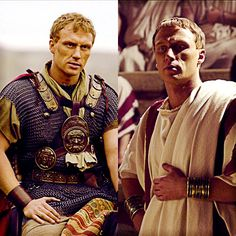 HBO's Rome. Despite what Pullo said, I don't think Vorenus looked like laundry.