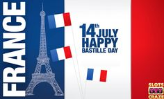 We would like to wish our French players Happy Bastille Day!We wish your celebrations to be sparkling and joyful.  The Slots Craze Hangout Team  #slot #slots #onlineslots #SlotsCraze #freeslots #slotscrazehangout #BastilleDay #France #French #sparkling #joyful