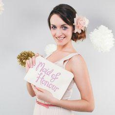 Bag Maid of Honour grey / Tasje Maid of Honour grijs / / Shop the most beautiful bridal accessoires at: https://www.weddingdeco.nl/accessoires-bruiloft/bruidsaccessoires/