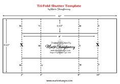 Tri-fold shutter card template