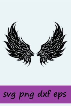 Angle Wings Drawing, Art File, Silhouette Studio, Silhouette Cameo, Decoration, Card Making, Creations, Clip Art, Etsy Shop