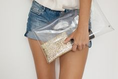diy transparent clutch