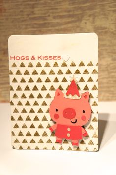 What a cute card! See how I created it HERE: http://thegreencricut.blogspot.ca/2014/04/hogs-and-kisses-cricut-pig-card-giveaway.html  Be sure to check out the great giveaway I am hosting as well... let's say it involves Cricut and Cuttlebug! Happy crafting my friends :)   #cricut #creativeacritter2 #giveaway #pig #cute #embossingpaste #gold #pink #birthday #hogs&kisses
