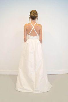 Criss-cross straps on wedding dress - Logan | Emily Kotarski Bridal