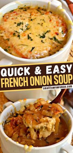 You are going to love every spoonful of the best French Onion Soup! Even the novice chef can handle this quick and easy recipe. Made with slow-cooked onions simmered in broth and spice, toasted crostini, and rich Gruyere cheese, it is the ultimate winter comfort food!