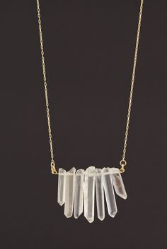 Crystal Dagger Necklace BY ALICIA MOHR