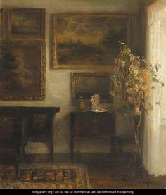 Vase Med Blomster (Interior With A Vase Of Flowers) - Carl Vilhelm Holsoe