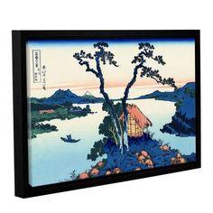 "ArtWall Lake Suwa in the Shinano Province by Katsushika Hokusai Framed Painting Print Size: 24"" H x 36"" W"