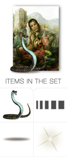 """The Snake Charmer"" by auntiehelen ❤ liked on Polyvore featuring art"
