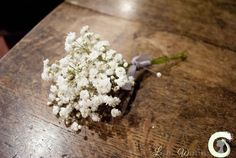 Gypsophila buttonhole for the groomsmen and fathers
