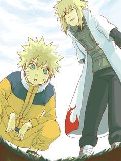 Minato Namikaze And Naruto   Minato Namikaze Minato Naruto