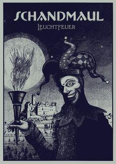 Schandmaul Poster von Remo Pohl, Illustrator in Stuttgart