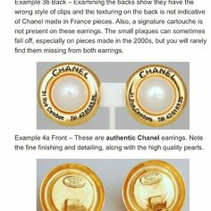 Channel accessories Intact with authentic stamp.  These are also auctioned items so no inclusions attached, i.e. box, cert, etc...Pls do your research before buying and making comment. Channel Jewelry