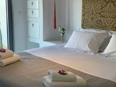 Ground floor bedroom is done with golden and dusty pink colors Vacation Homes For Rent, Private Garden, Lounge Areas, Luxury Villa, Dusty Pink, Outdoor Dining, Renting A House, Ground Floor, Living Room