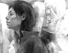 生徒作品 大橋美術研究所・美大受験予備校 Figure Painting, Figure Drawing, Line Drawing, Drawing Sketches, Art Drawings, Notebook Drawing, Graphite Art, Beautiful Sketches, Woman Drawing