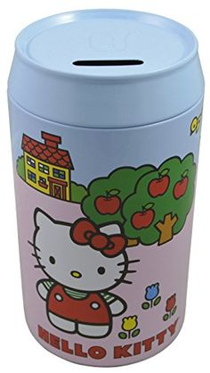 Sanrio Hello Kitty Cute Adorable Large Tin Coin Piggy bank-Blue >>> Read more reviews of the product by visiting the link on the image.