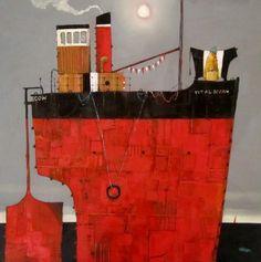 Belty and Bertha Steaming Home  by Gordon Wilson