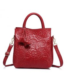 Cute Shoulder Bag Wild Red Beautiful Poppy Flowers Leather Hand Totes Bag Causal Handbags Zipped Shoulder Organizer For Lady Girls Womens Tote Work