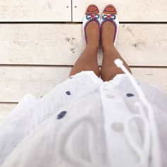Wearing my new ballerinas from the Hippie market Palm Beach Sandals, Ballerinas, 6 Years, My Outfit, Day, How To Wear, Outfits, Shoes, Fashion